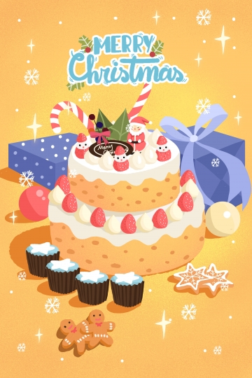 Christmas Cake PNG Images.