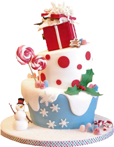 Candy Christmas Cake transparent png.