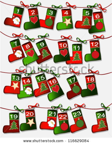 Christmas Calendar Stock Photos, Royalty.