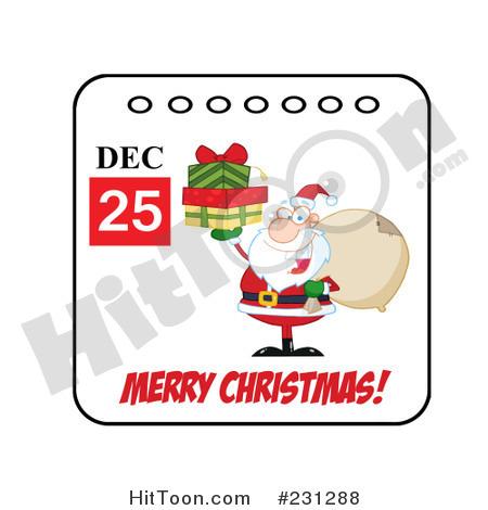 Christmas Calendar Clipart.
