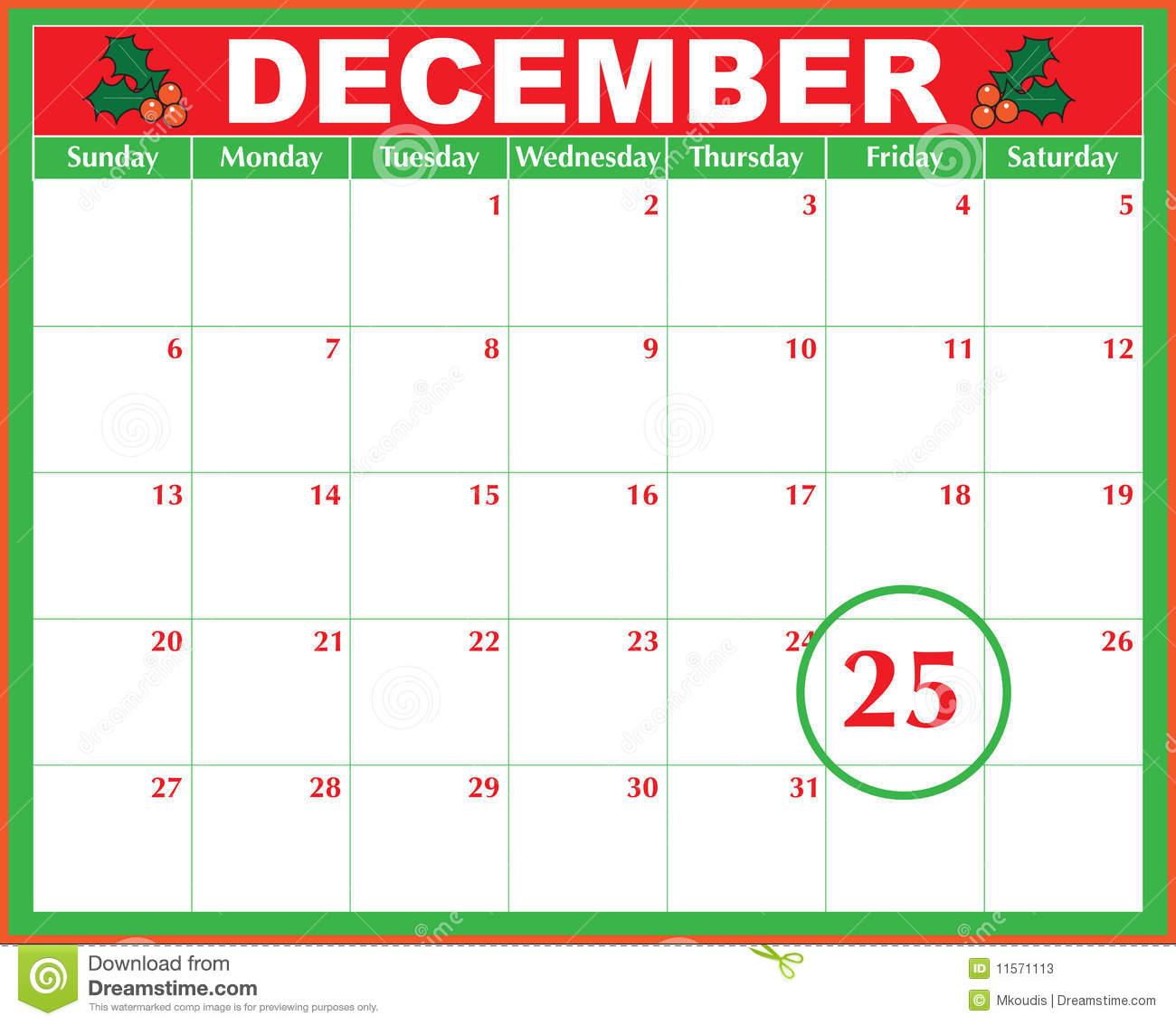 Christmas Calendar Clipart Clipground