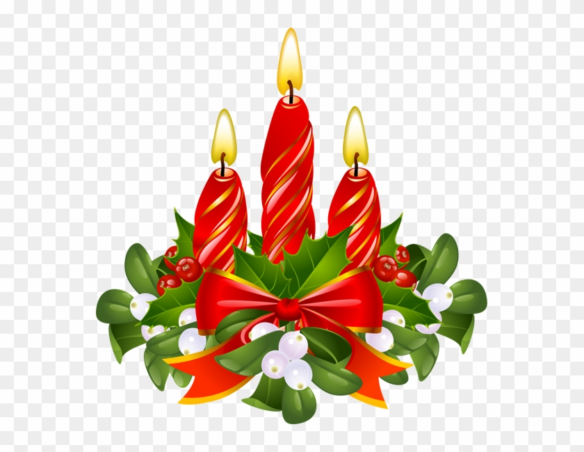 Purple Christmas Candles Clip Art Cards Christmas.