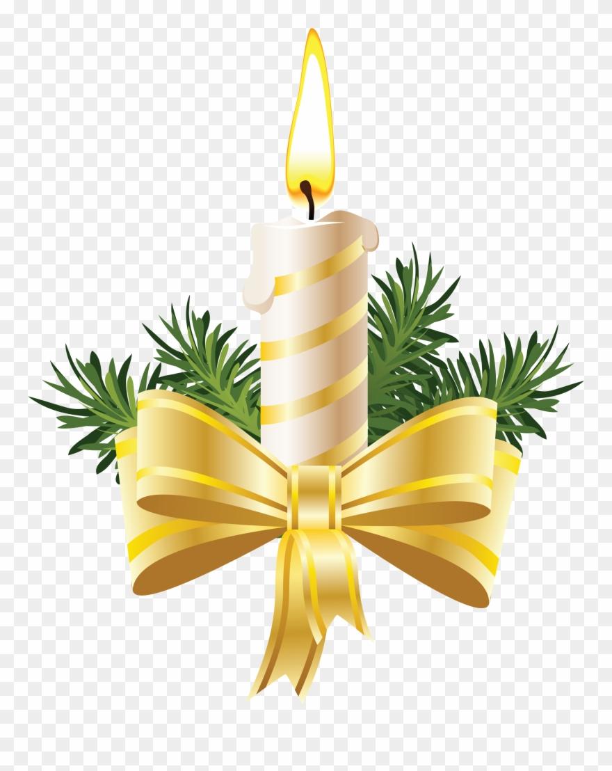 Clip Art Christmas Candles.
