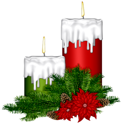 CHRISTMAS CANDLES *.