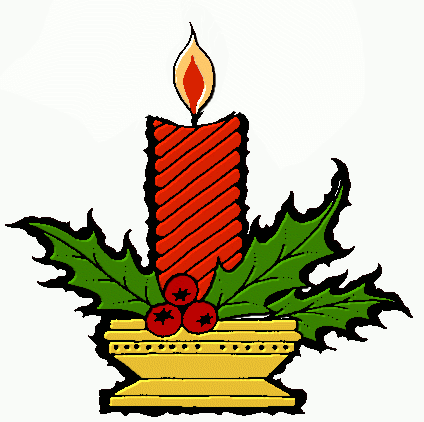 Free Christmas Candles Clipart.