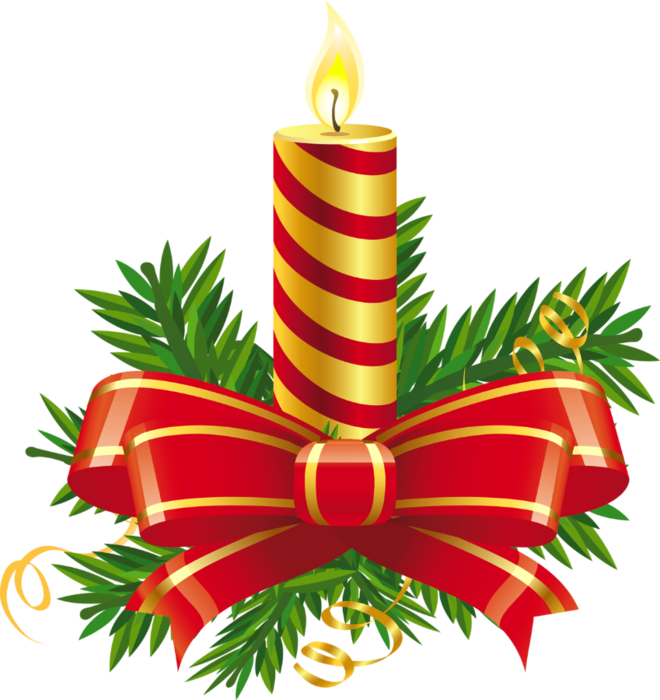 Free christmas candle clipart.