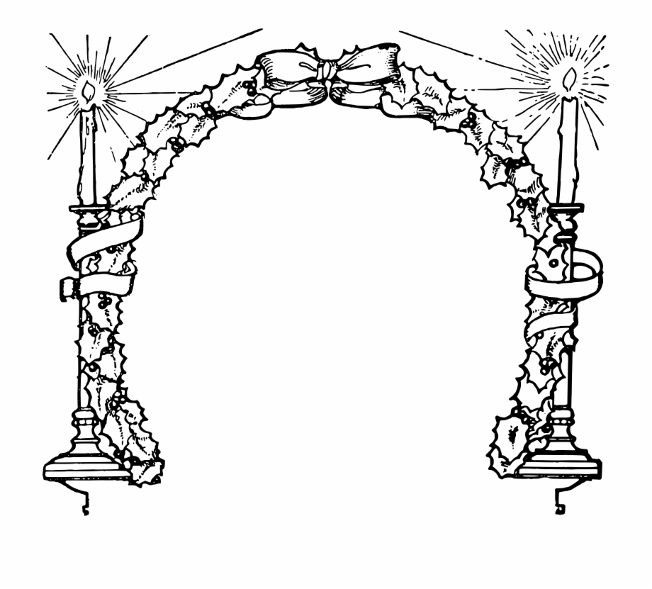 Image Royalty Free Stock Christmas Candle Clipart Black.