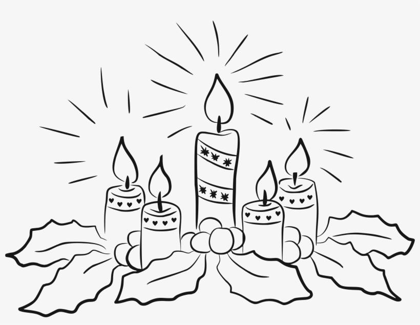 Vector Freeuse Candles Line Art Big Image Png.
