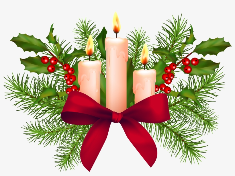 Svg Library Christmas Candles Clipart.