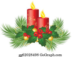 Christmas Candles Clip Art.