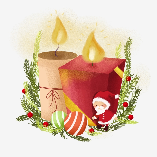 Christmas Candle Png, Vector, PSD, and Clipart With Transparent.