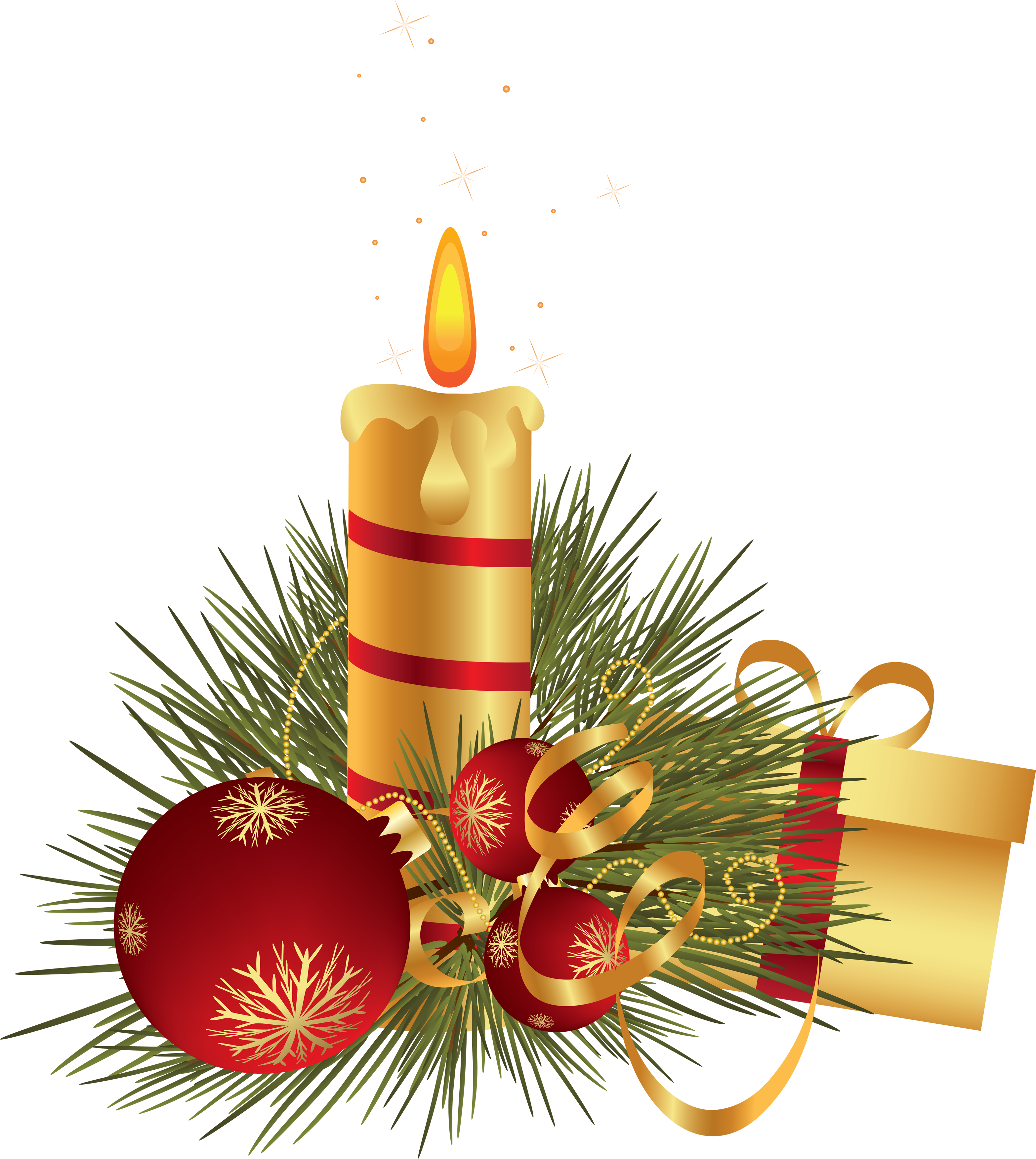 Christmas Candle's PNG Image.