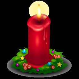 Christmas candle PNG image.