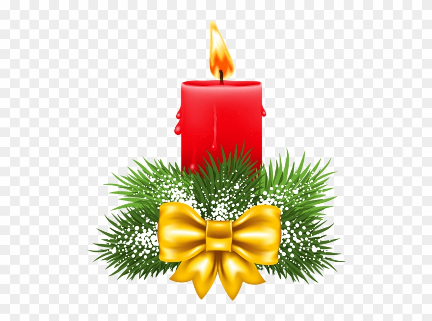 Christmas Candle Png Clipart (#433585).