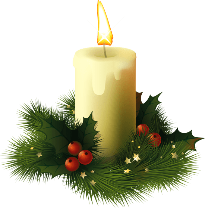 Christmas Candle transparent PNG.