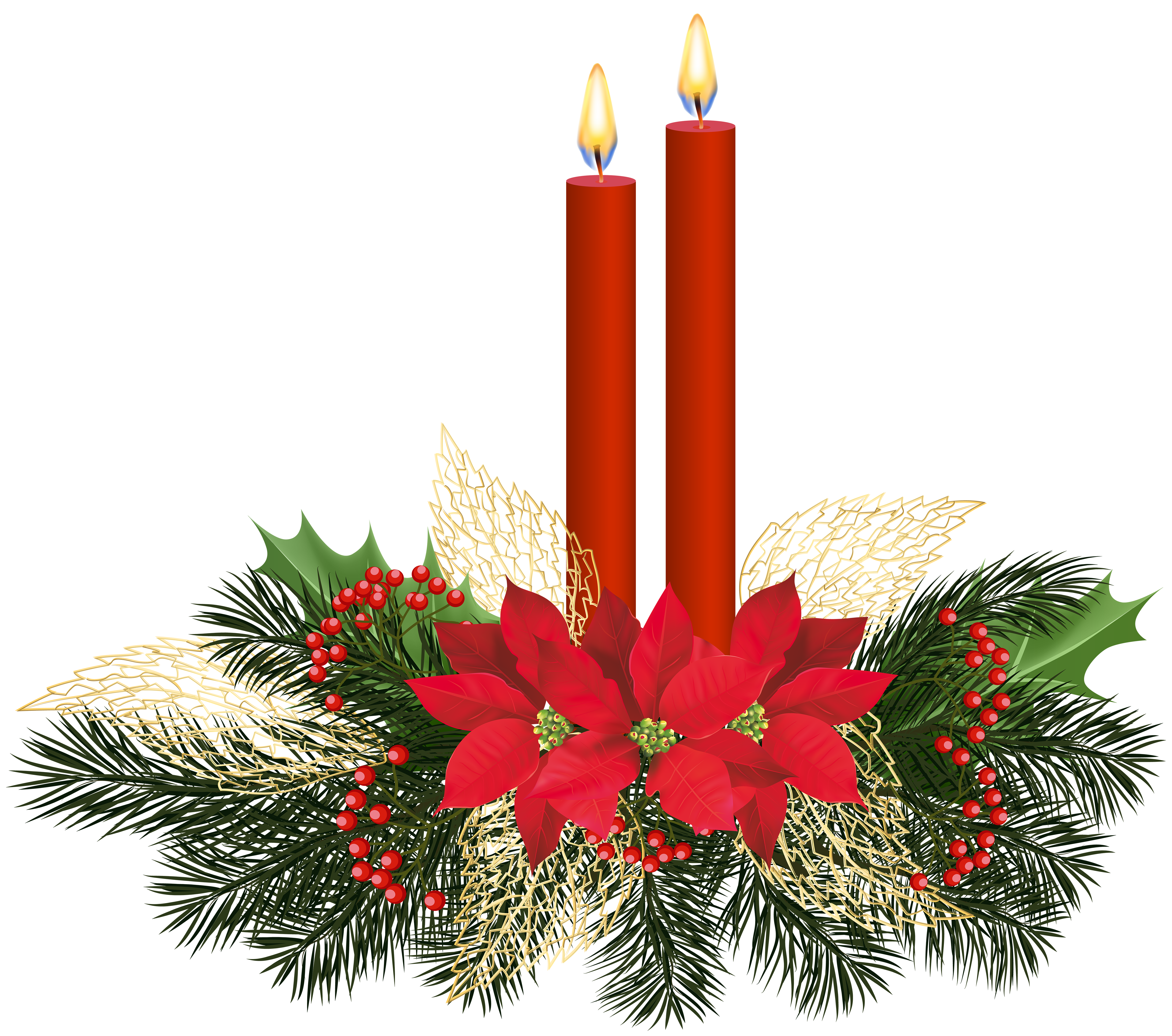 Christmas Candles PNG Clip Art.