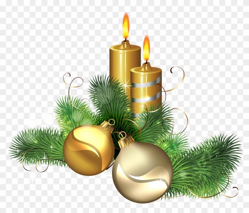 Christmas Candles Png, Transparent Png.
