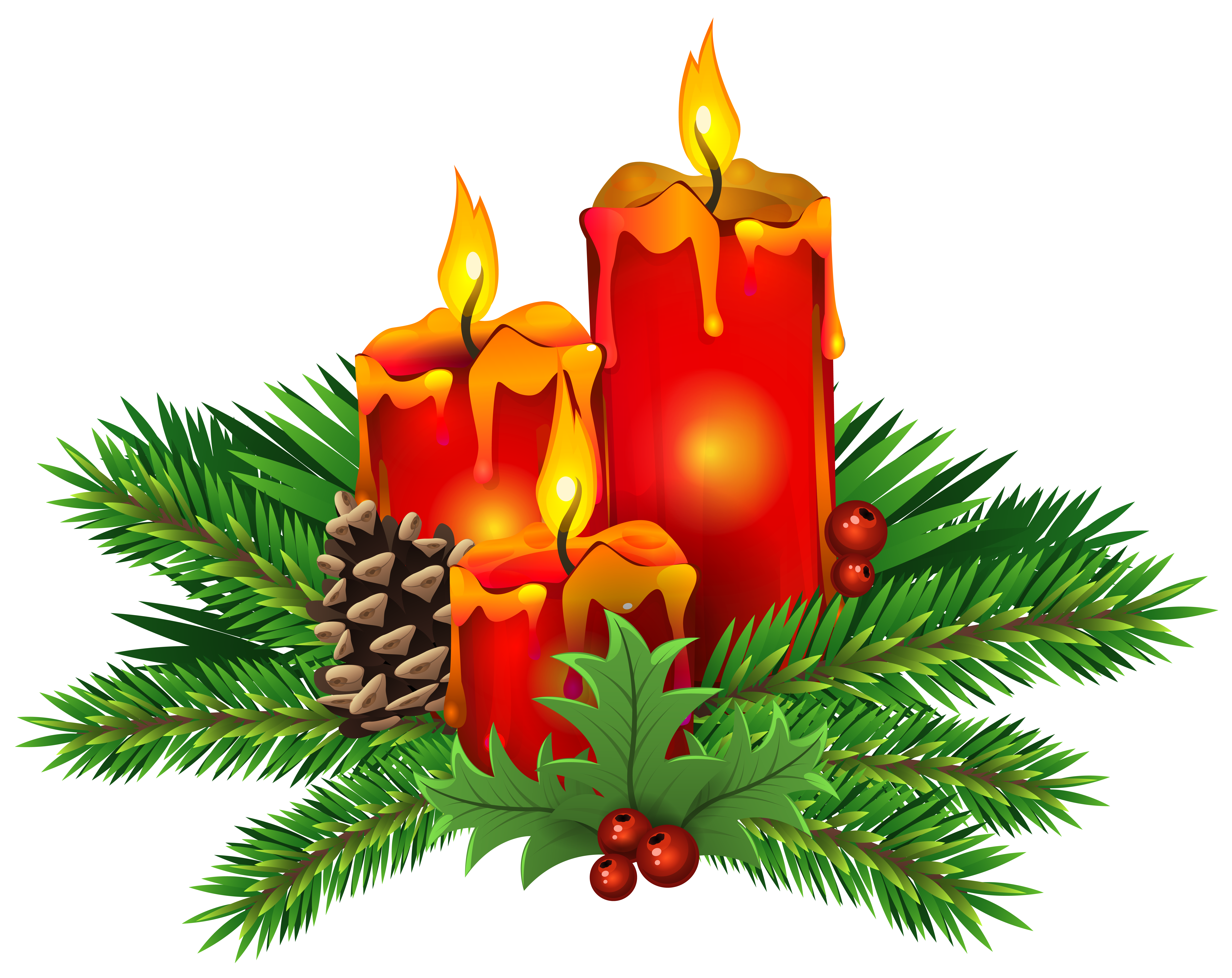 Free Clipart Christmas Candles.