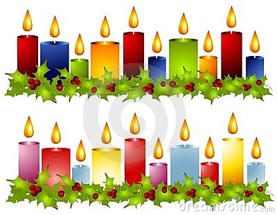 Advent Wreath Four Candle Royalty Free Stock Image.