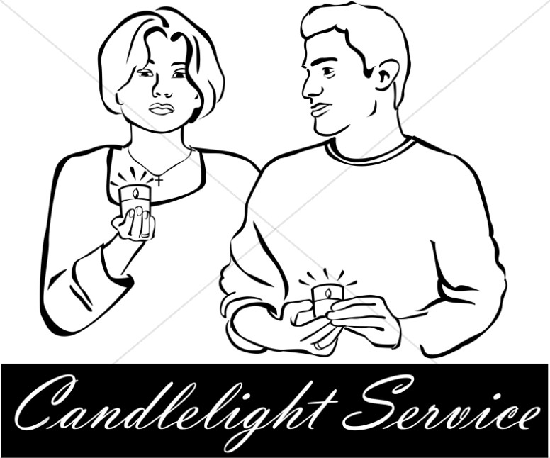 Candlelight Service Clipart.