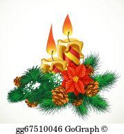 Christmas Candles Clip Art.