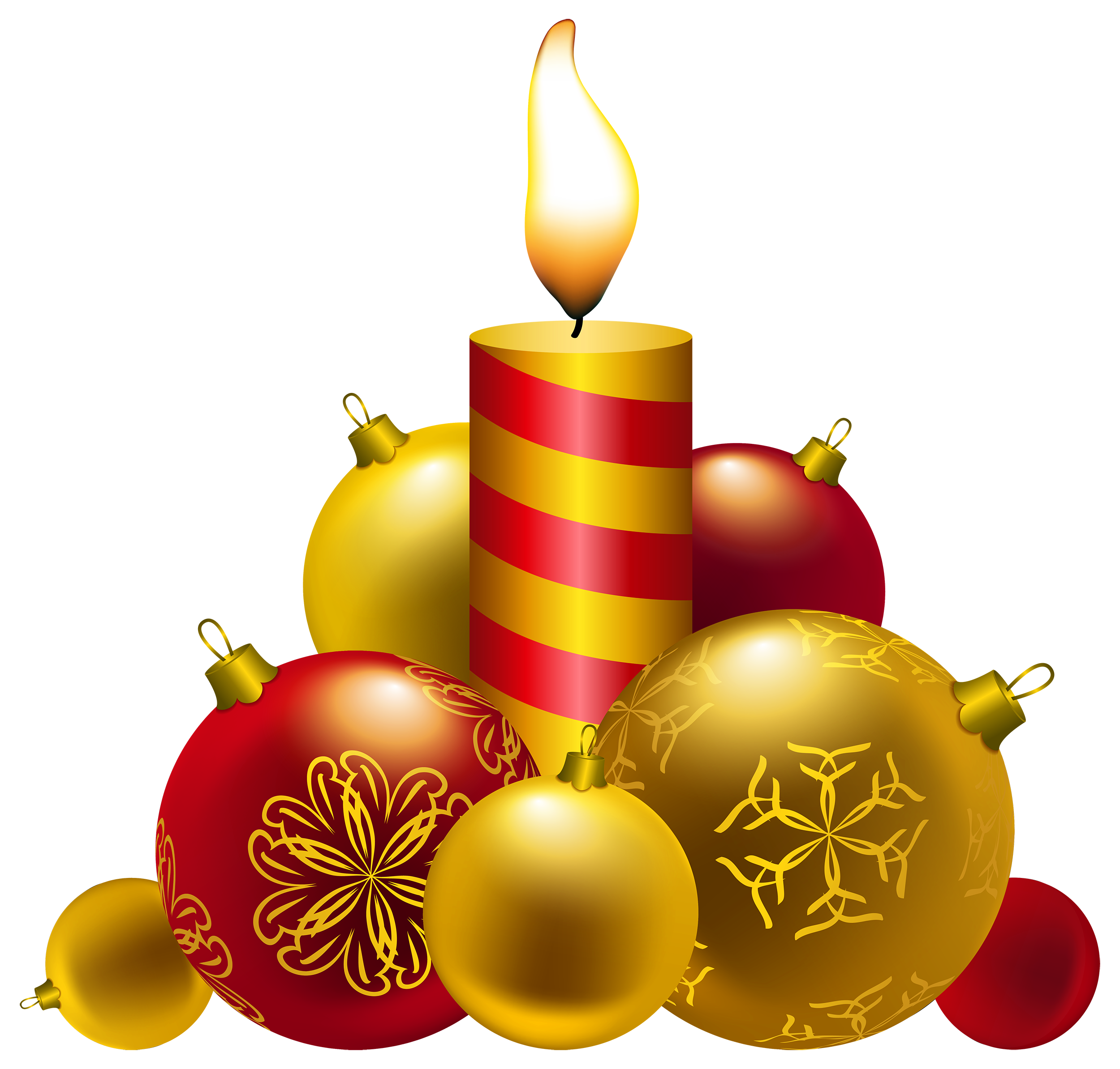 Christmas Candles PNG Clipart.