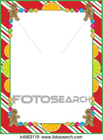 Christmas Candy Border Clip Art.