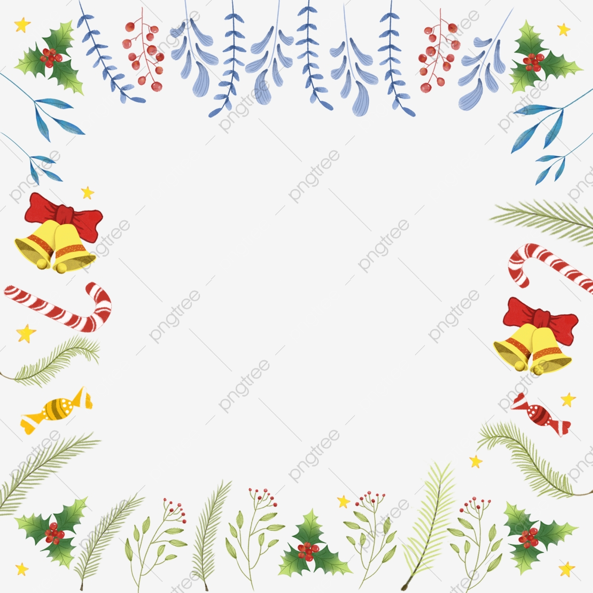 Christmas Candy Border, Christmas, Christmas Border, Candy PNG.