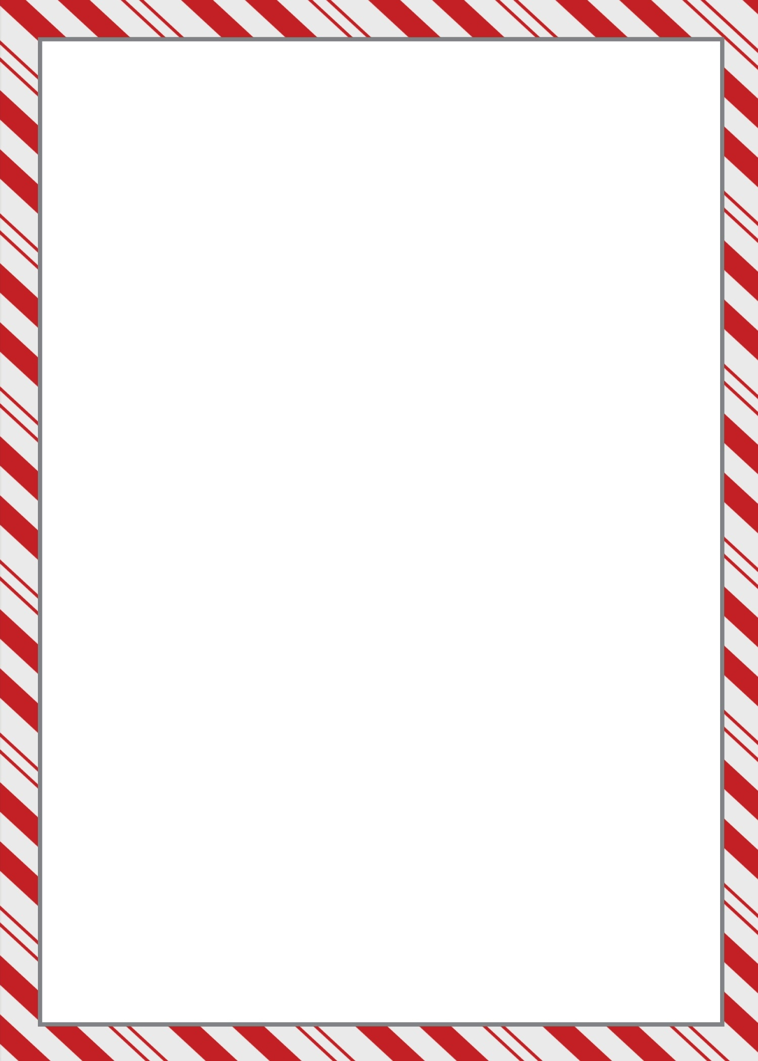 Christmas Candy Cane Border Clip Art.