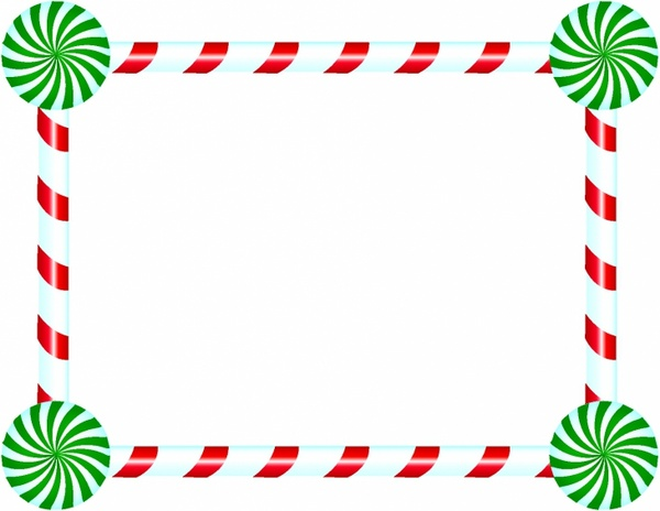 Christmas Candy Border Clipart.