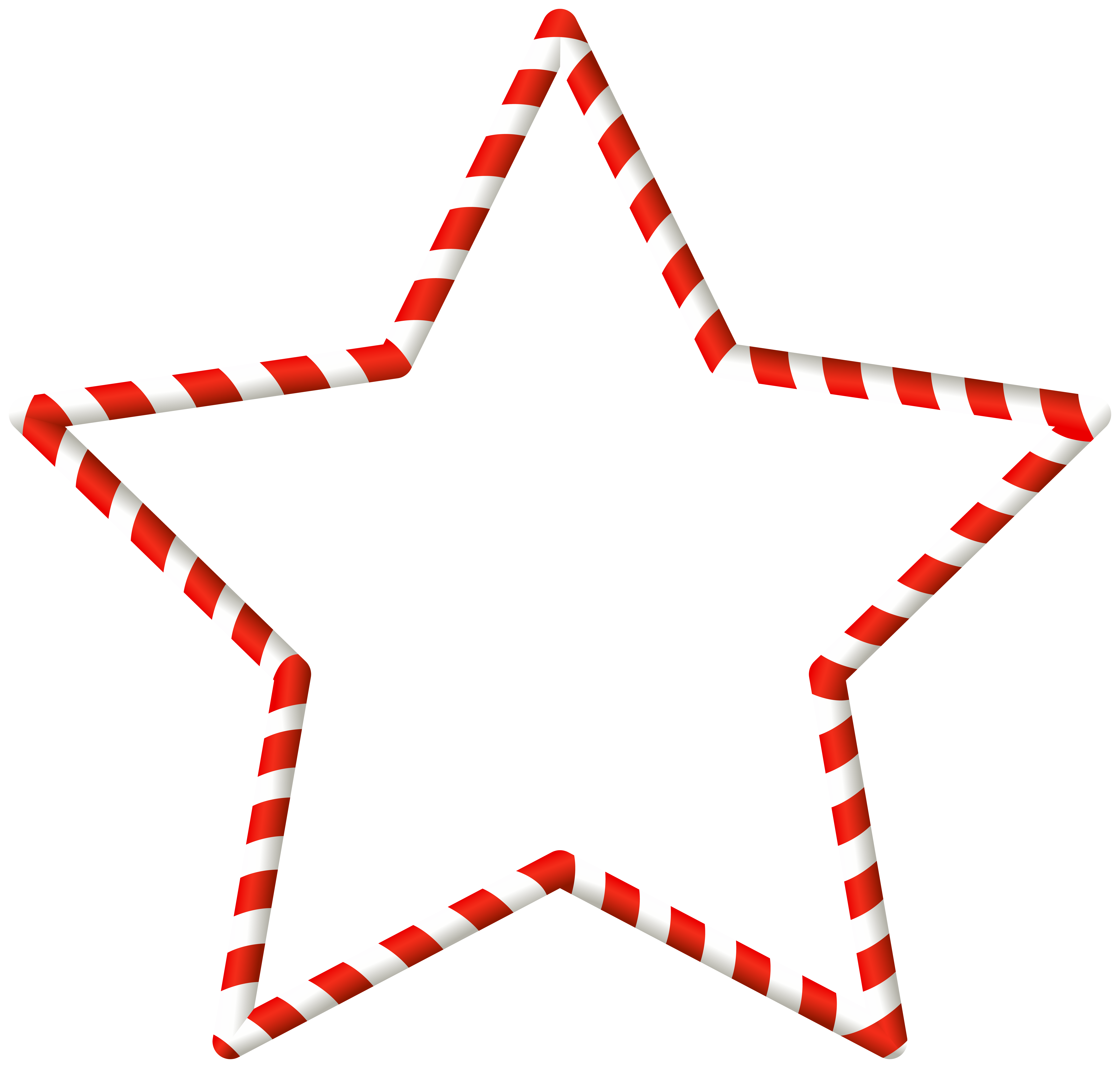 Christmas Candy Cane Star Border Clip Art Image.