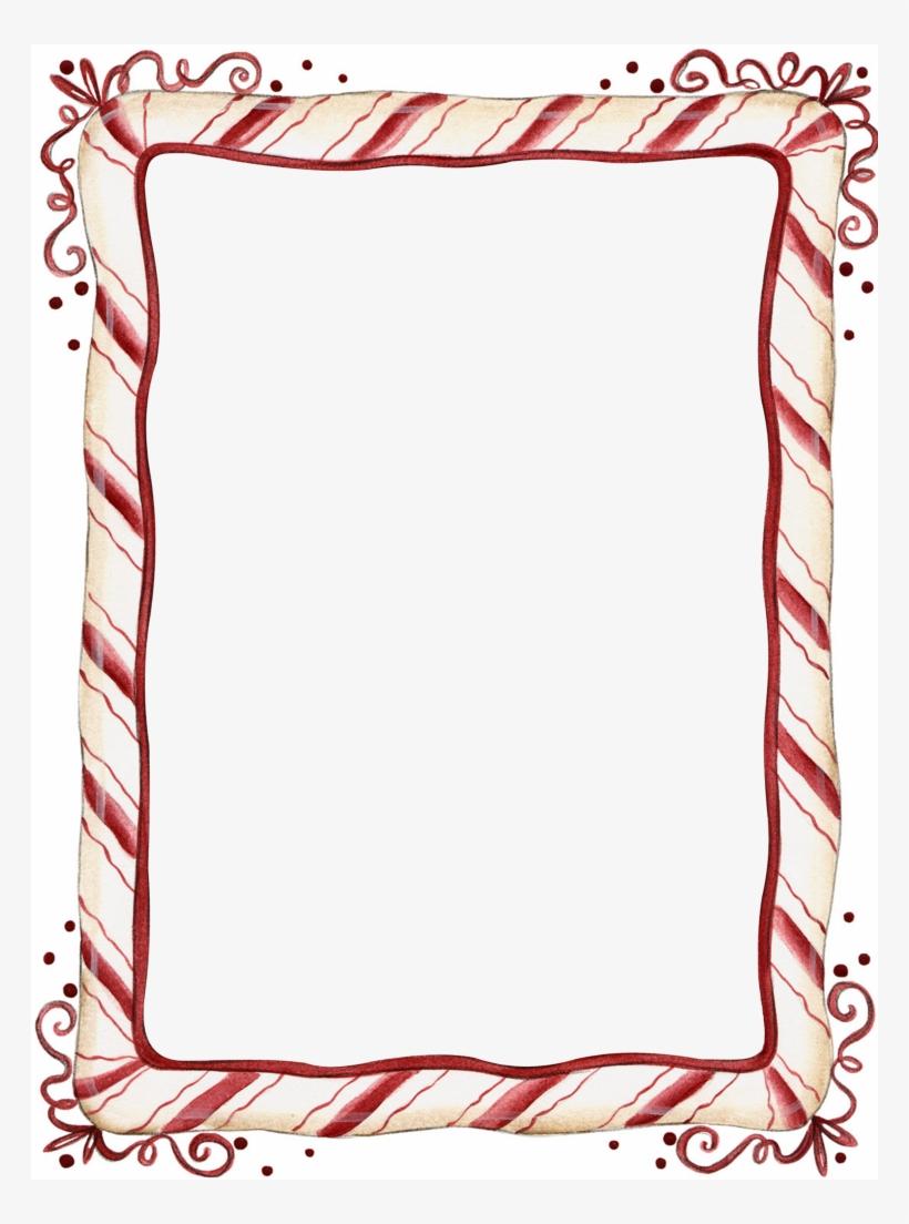 Candy Cane Christmas Border Clip Art.