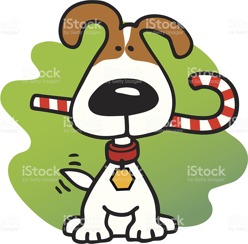 Christmas Candy Cane In Mouth Puppy Clipart Clipground