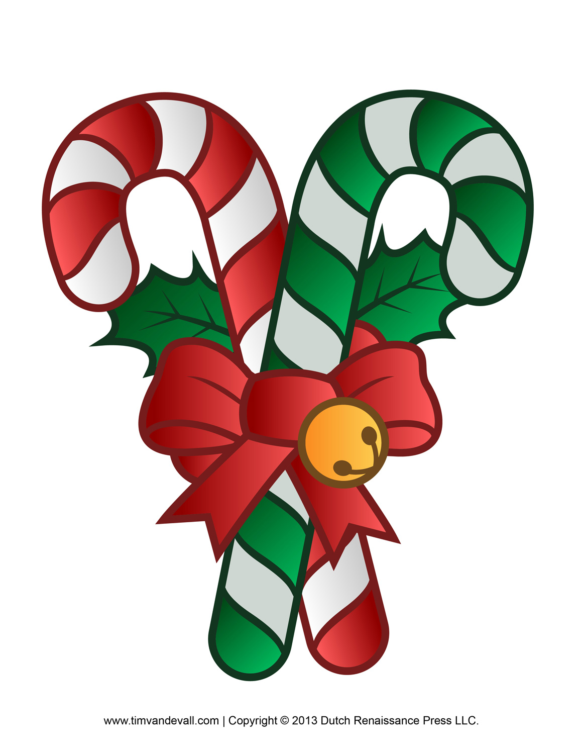 808 Candy Cane free clipart.
