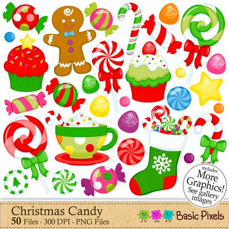Christmas Candy Clipart Digital Clip Art Christmas.