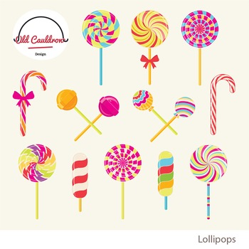 Lollipops clipart, peppermint, sweets clipart, christmas candy clipart.