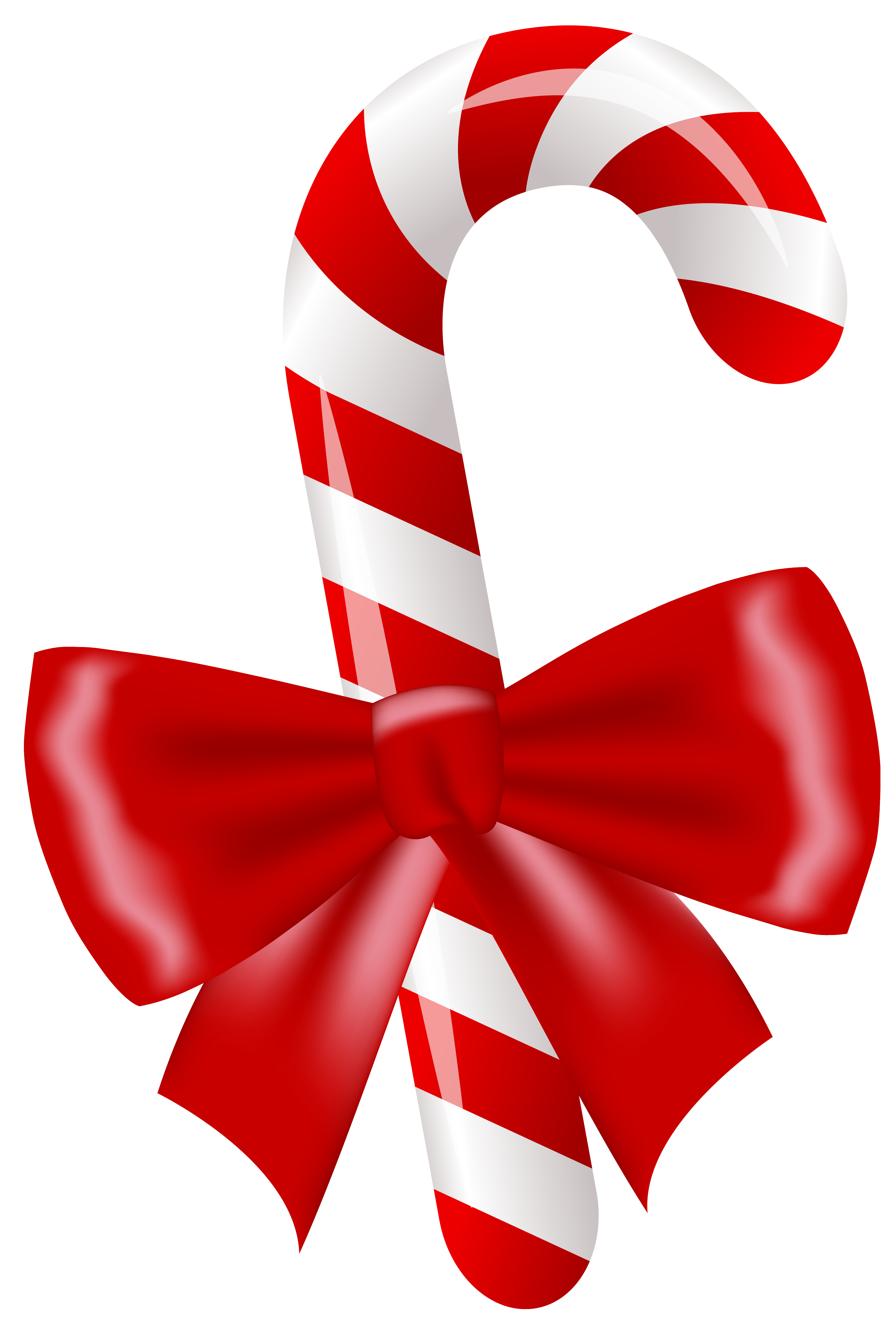 Christmas Candy Cane PNG Clipart Image.