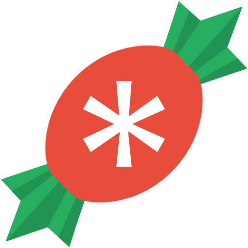 Simple Christmas Candy Icon, PNG ClipArt Image.