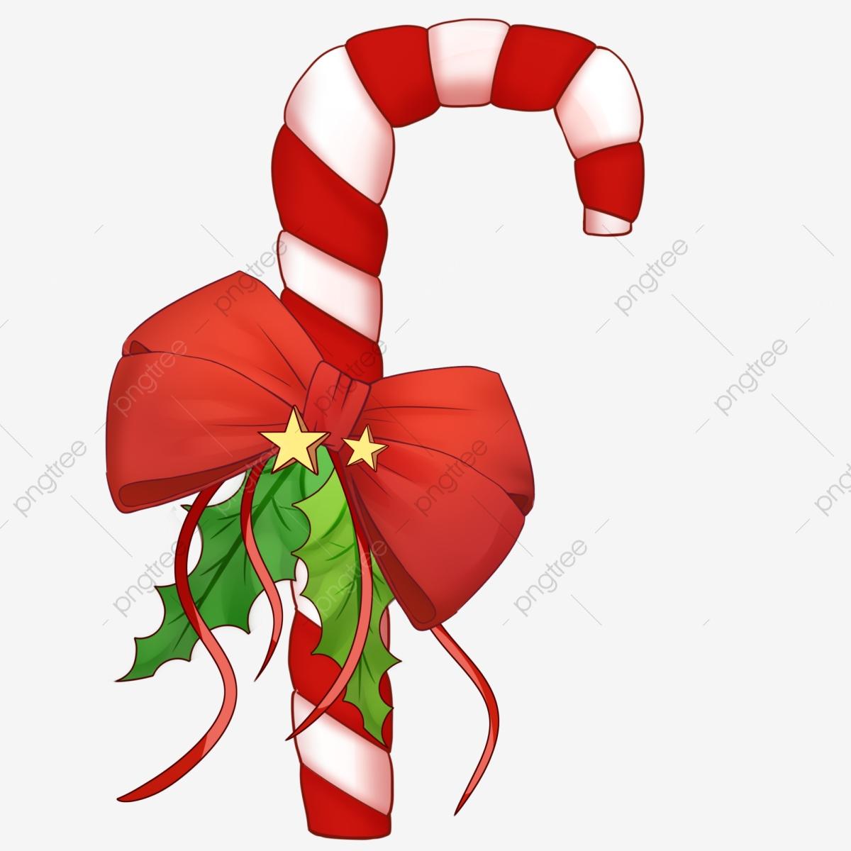 Christmas Christmas Christmas Candy Cane Gift, Festive, Pine, Bow.