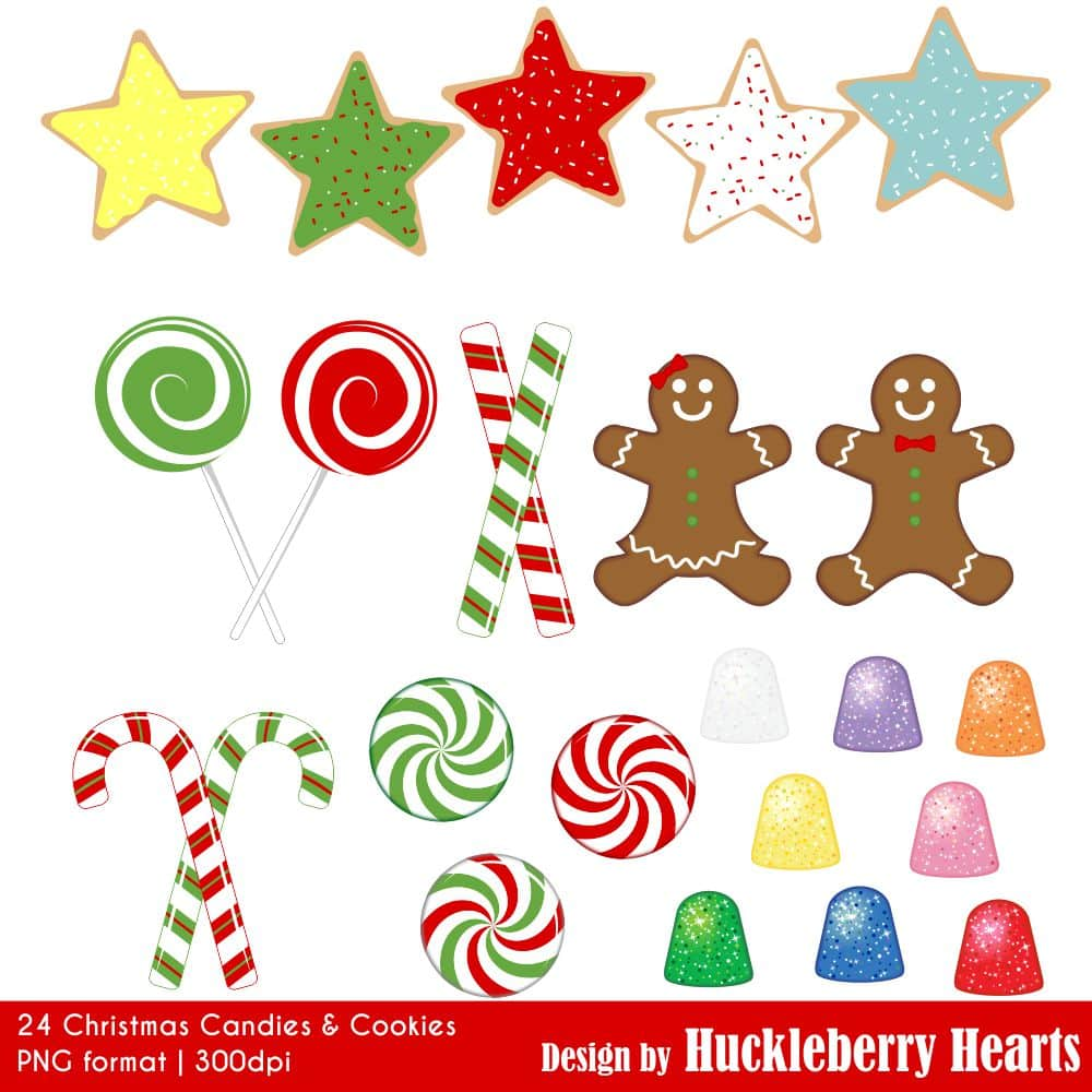 Christmas Candies and Cookies Clipart.