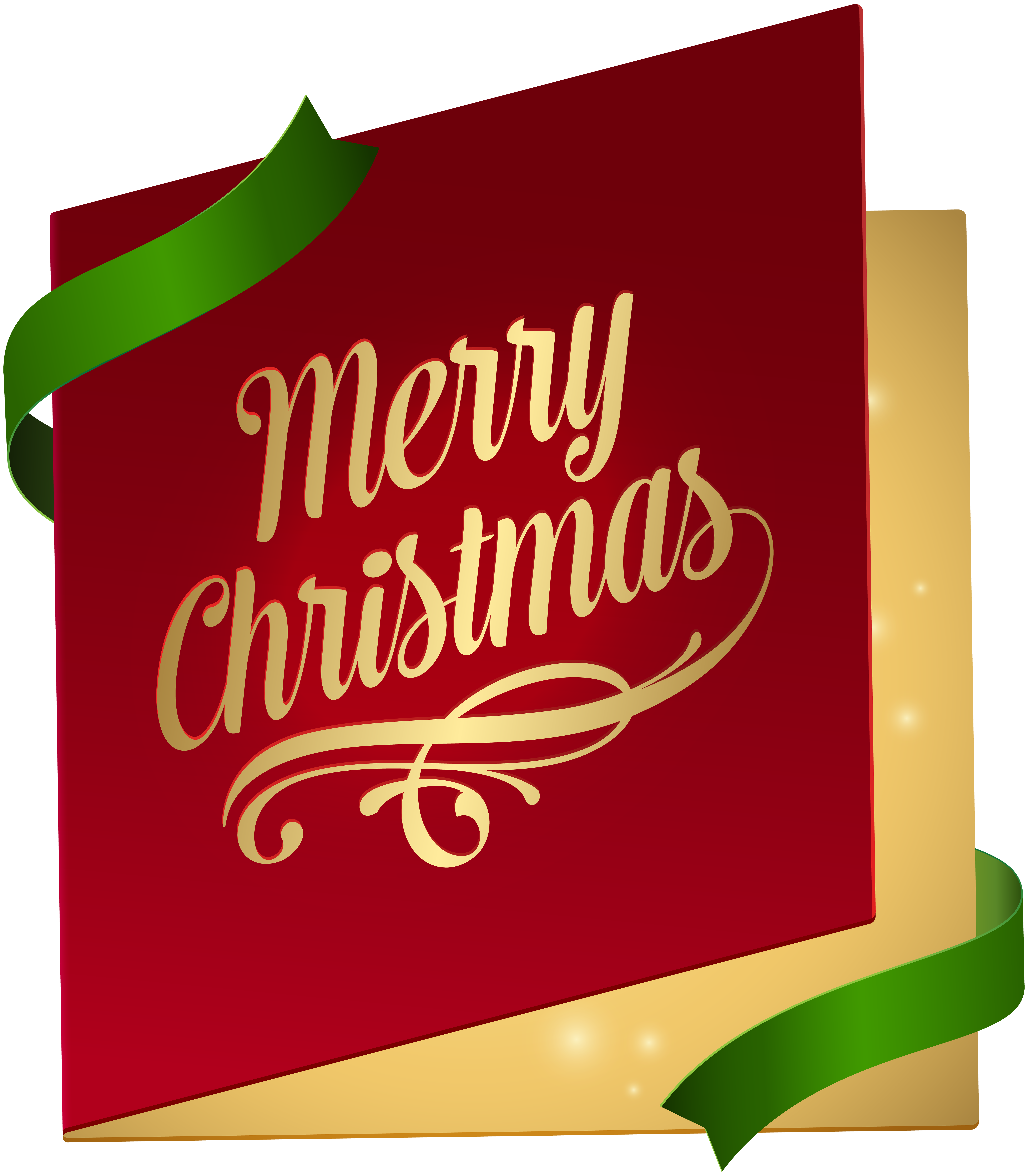 Christmas Card PNG Clip Art Image.