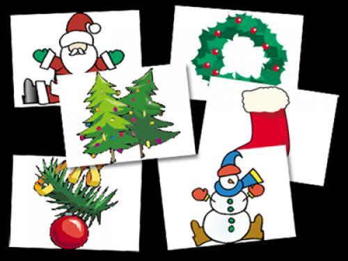 Christmas Card Clip Art.