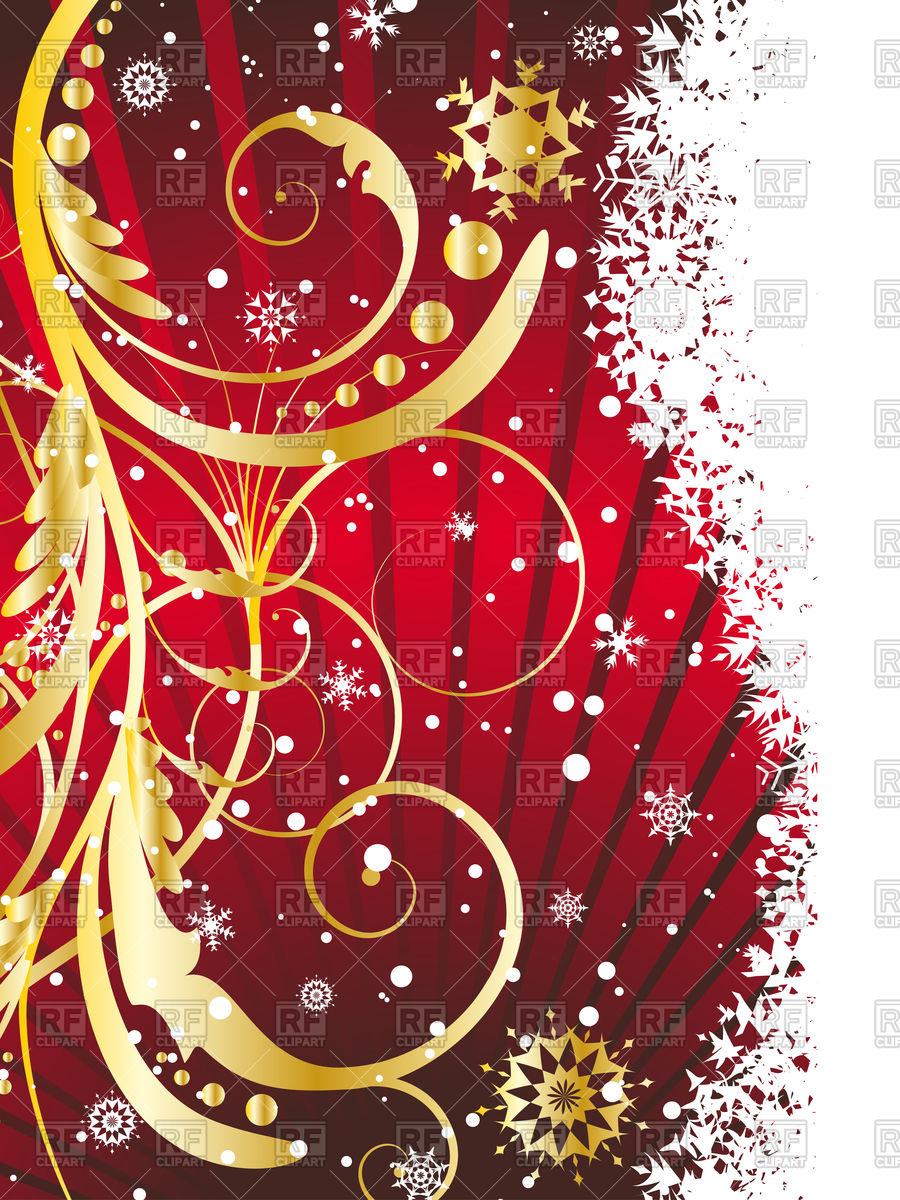 Vertical Christmas card Vector Image #81464.