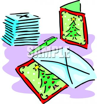 Christmas card china clipart.