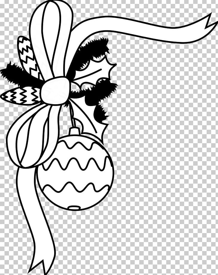 Santa Claus Christmas Ornament Black And White PNG, Clipart.