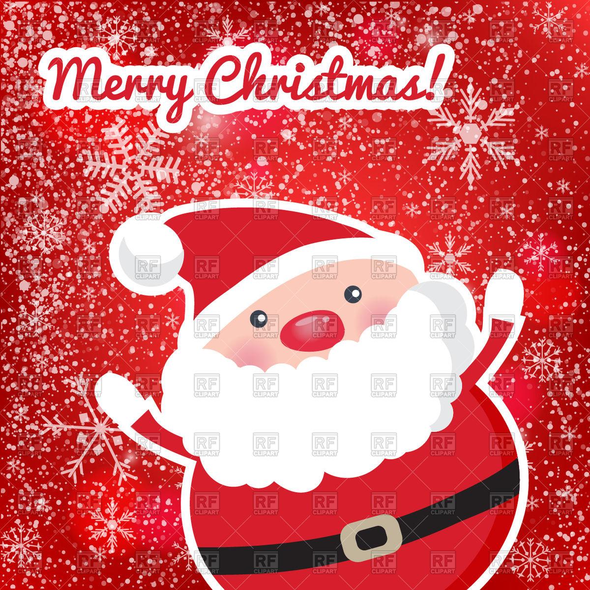 Cute Santa Claus.
