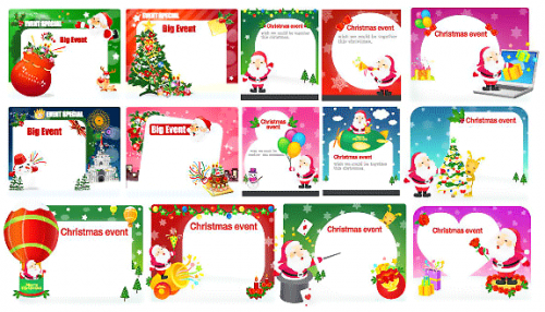 60 Free Christmas Vector Design Resource for Greeting Cards and.