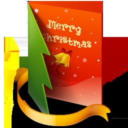 christmas card icon.