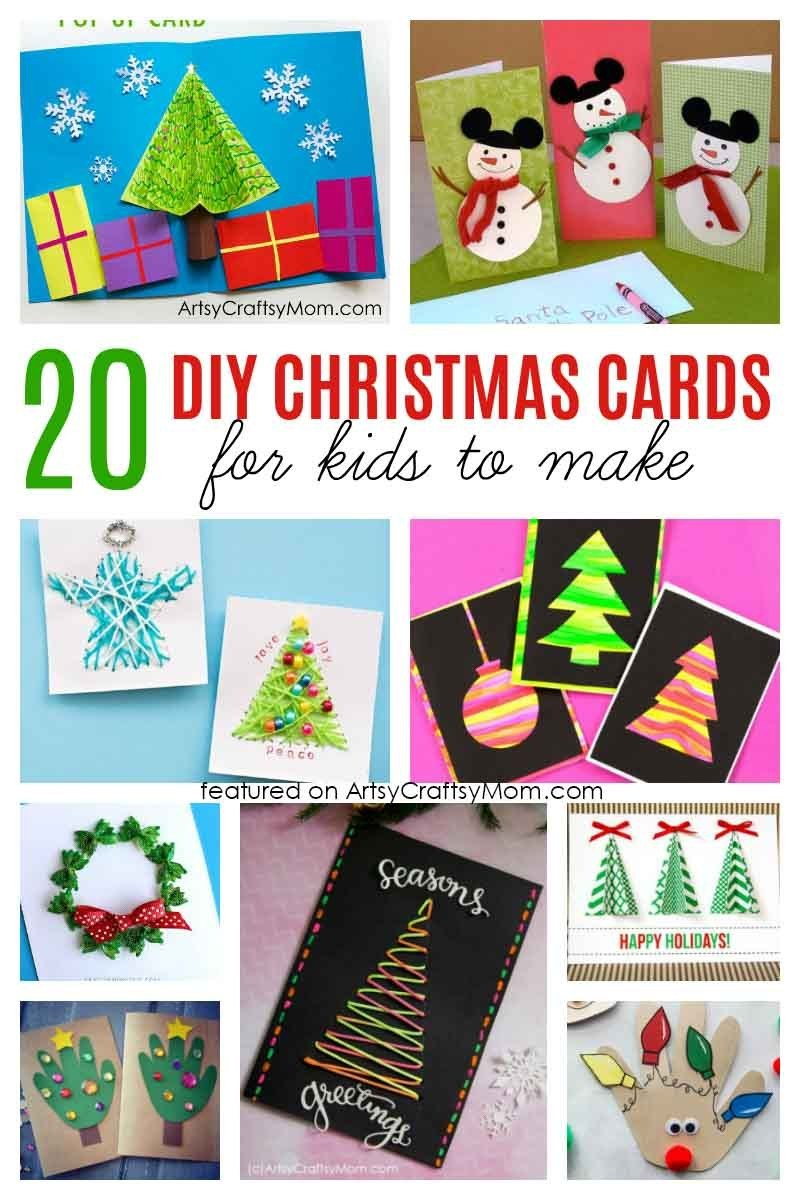 20 Simple and Sweet DIY Christmas Card Ideas for Kids.