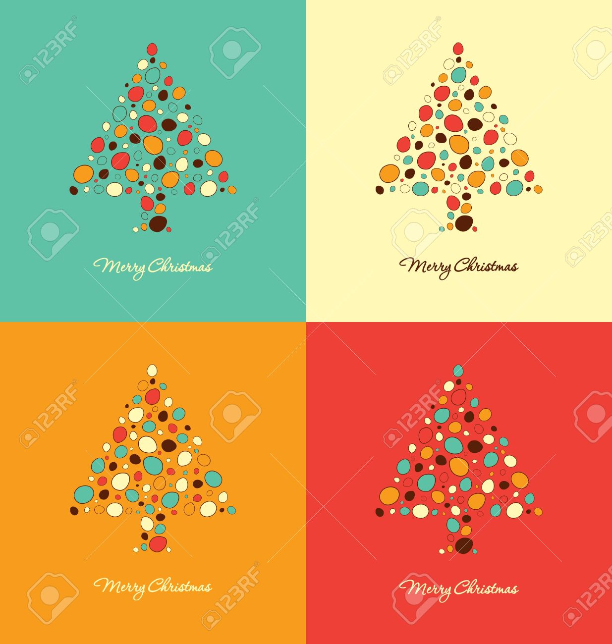 Christmas Card Clipart Templates.